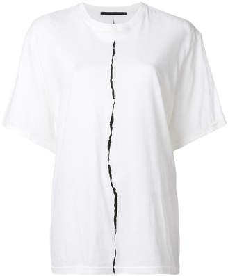 Haider Ackermann rip print T-shirt