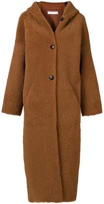 Inès & Marèchal single breasted shearling coat