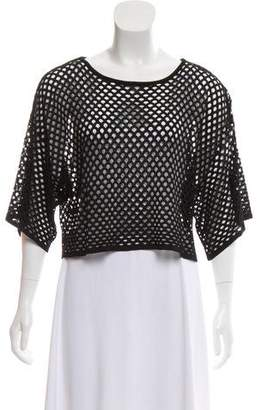 Emilio Pucci Open Knit Short Sleeve Top