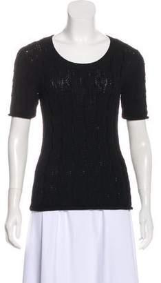 TSE Cable Knit Short Sleeve Top