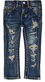Haus of JR Kids' Distressed Jeans-Blue