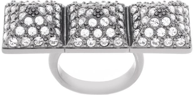 CC Skye Crystal Mackenzie Knuckle Duster Ring