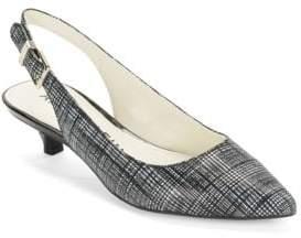 Anne Klein Expert Leather Sling-Back Heels