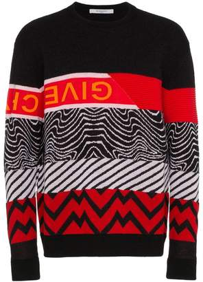 Givenchy mixed pattern knit sweater