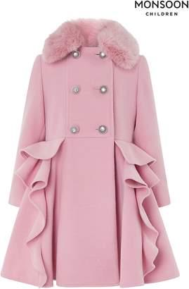 Next Girls Monsoon Ava Ruffle Coat
