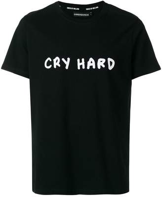 House of Holland cry hard print T-shirt
