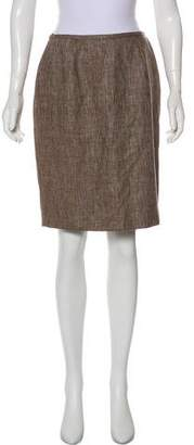 Lafayette 148 Tweed Knee-Length Skirt