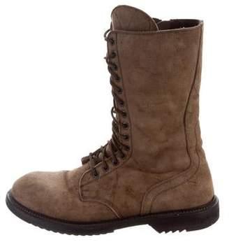 Rick Owens Nubuck Combat Boots
