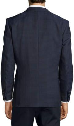 English Laundry Men's Plaid Two-Button Sport Coat