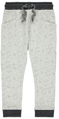 George White Panel Detail Joggers