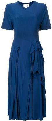 Koché ruffled detail dress