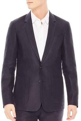 Sandro Notch Linen Slim Fit Sport Coat
