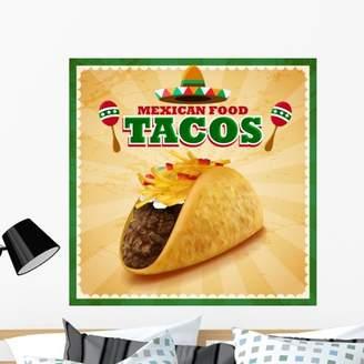 Mural Wallmonkeys LLC Tacos Mexican Food Wall by Wallmonkeys Peel and Stick Graphic (36 in H x 36 in W) WM73420
