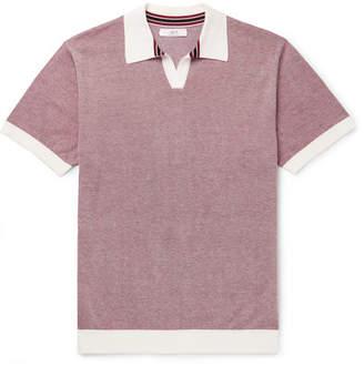 Mr P. Knitted Cotton-Piqué Polo Shirt