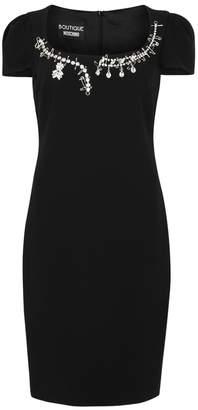Moschino Black Crystal-embellished Dress