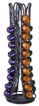 Nespresso Mind Reader Coffee Pod Storage for Capsules, Carousel Holds 44 Capsules, Black