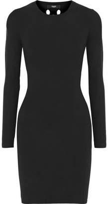 Versace Cutout Ribbed-Knit Mini Dress