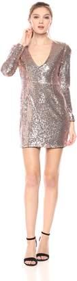 Glamorous Women's Sequin Deep V Dress