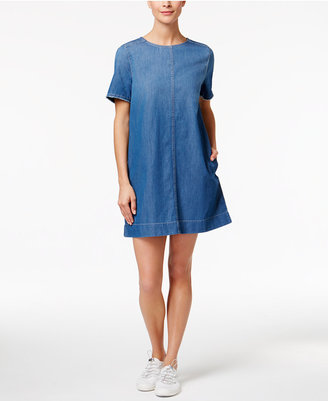Calvin Klein Jeans Cotton Denim Shift Dress $79.50 thestylecure.com