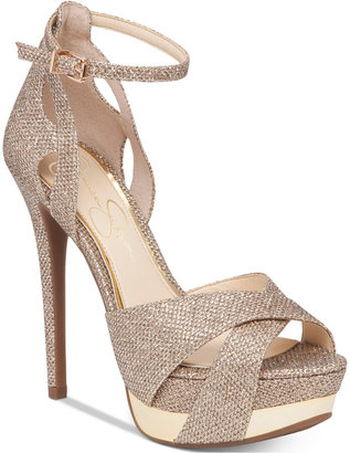 Jessica Simpson Wendah Platform Evening Sandals $110 thestylecure.com