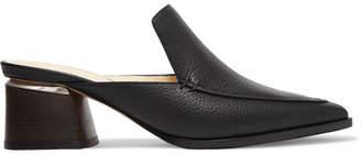 Nicholas Kirkwood Beya Textured-leather Mules - Black