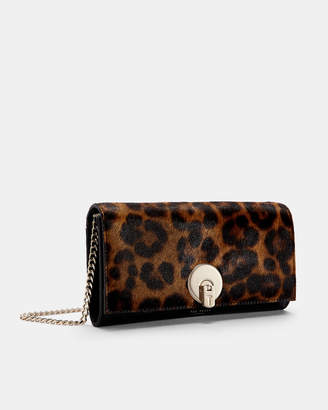 Ted Baker ARNOTT Leopard print matinee purse with strap