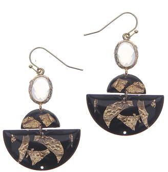 Nakamol CHICAGO Black stone earrings