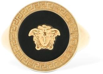 Versace Greek Motif Medusa Pinky Ring