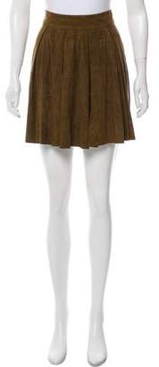 Alice + Olivia Suede Mini Skirt