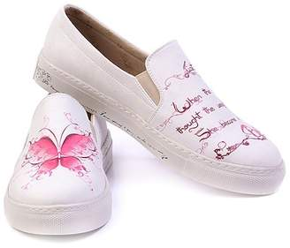 Goby Butterfly Printed Slip-On Sneaker