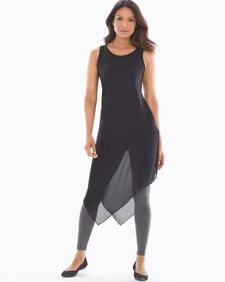 Soft Jersey Mesh Sleeveless Asymmetrical Hem Tunic