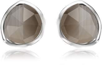 Monica Vinader Siren Grey Agate Stud Earrings