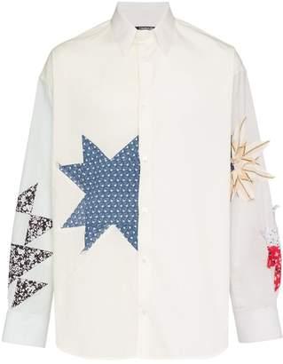 Calvin Klein Embroidered detail button-down cotton shirt