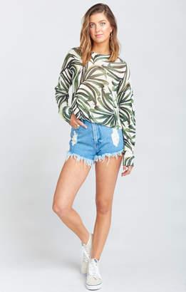 Show Me Your Mumu Houston High Waisted Shorts ~ Tide