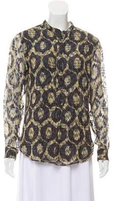Isabel Marant Printed Long Sleeve Top