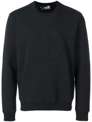 Love Moschino slim-fit embossed sweatshirt