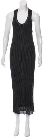Alexander Wang Alexander Wang Striped Mesh Dress