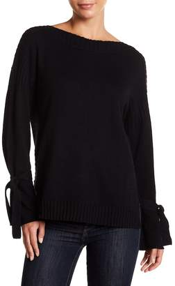 Lucky Brand Tie Sleeve Pullover Sweater