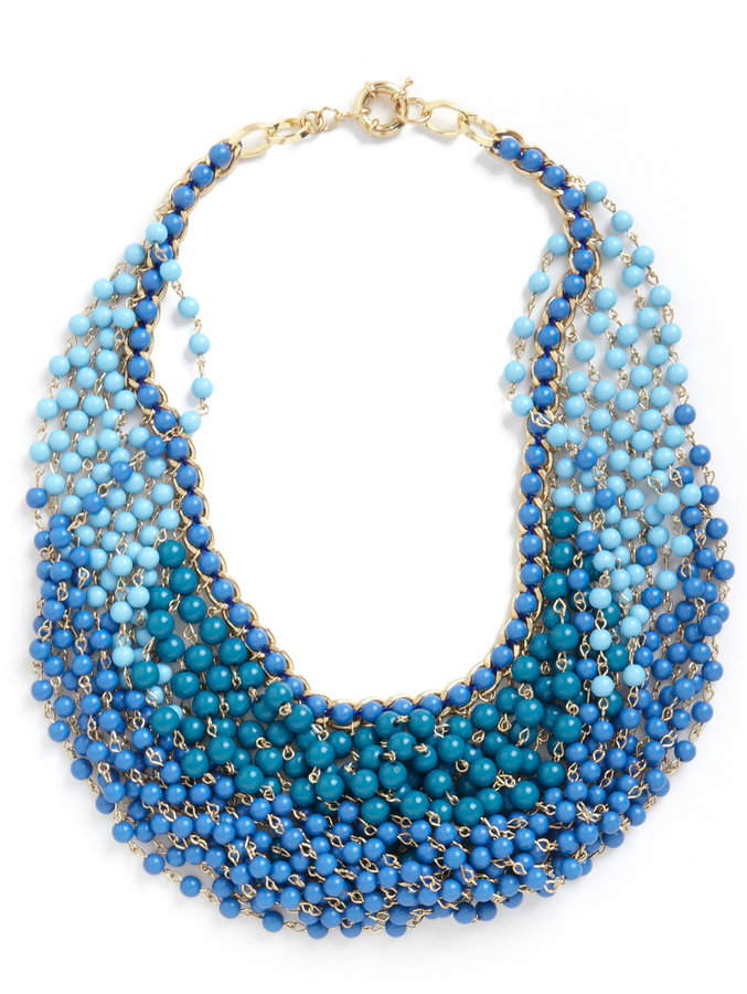 Statement of the Art Necklace in Azure