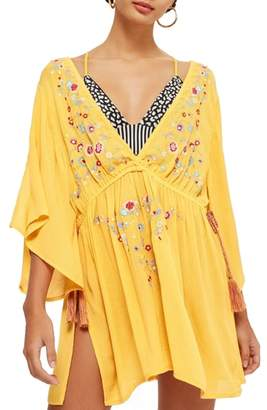 Topshop Embroidered Cover-Up Dress