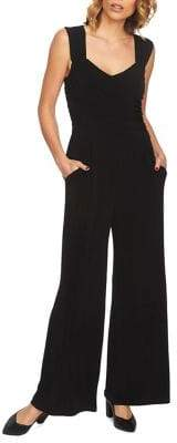 1 STATE 1.STATE Wide-Leg Wrap Jumpsuit