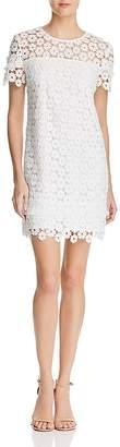 Aqua Fringe-Trim Lace Dress - 100% Exclusive