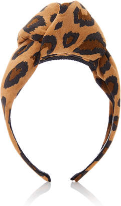 Benoit Missolin Charlotte Leopard Print Headband