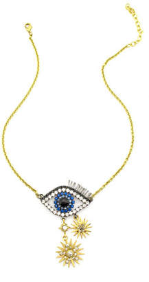 Elizabeth Cole Ravana Crystal Eye Pendant Necklace