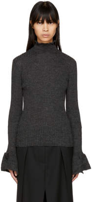 Acne Studios Grey Raine Open Back Turtleneck