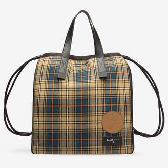 Bally Bompton Multicolor, Men's fabric drawstring bag in multi-caki