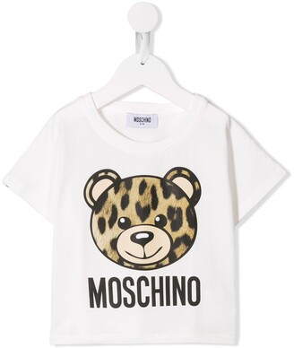 Moschino Kids logo teddy print T-shirt