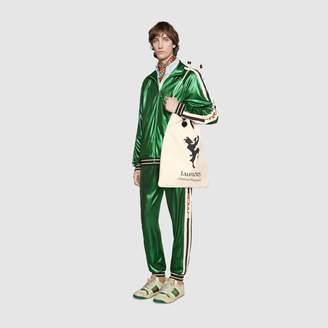 Gucci Oversize laminated jersey jacket