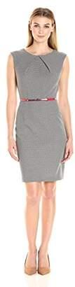 Sandra Darren Women's 1 Pc Extended Shoulder Jacquard Dress
