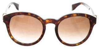 Alexander McQueen Tortoiseshell Oversize Sunglasses